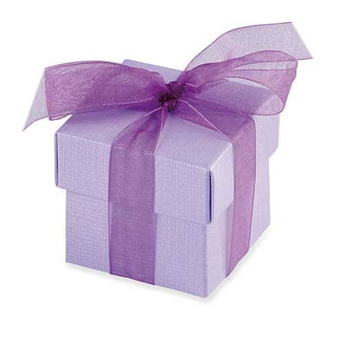 Lilac Favour Box And Lid x10