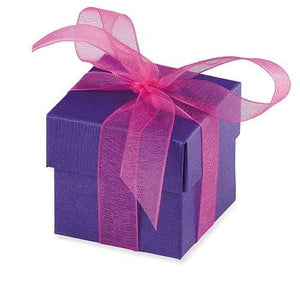 Purple Favour Box And Lid x10 - mypartymonsterstore