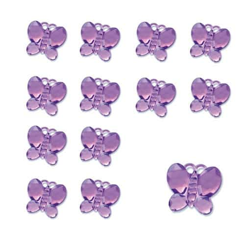 Purple Butterfly Diamantes