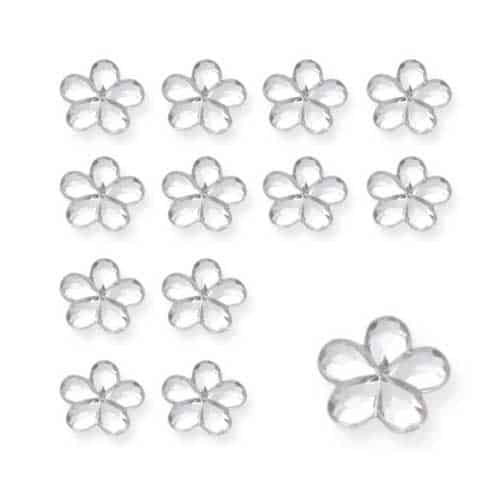 Silver Flower Diamantes