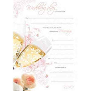 Wedding Day Hanging Pad Invitation x20