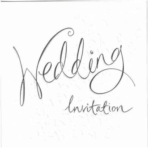 White Wedding Invitations x6
