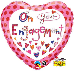 On Your Engagement Foil Balloon