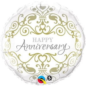 Happy Anniversary Classic Foil Balloon - mypartymonsterstore