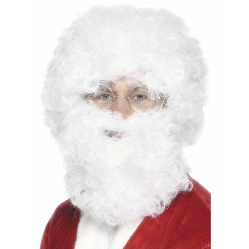 Santa Beard And Wig Set