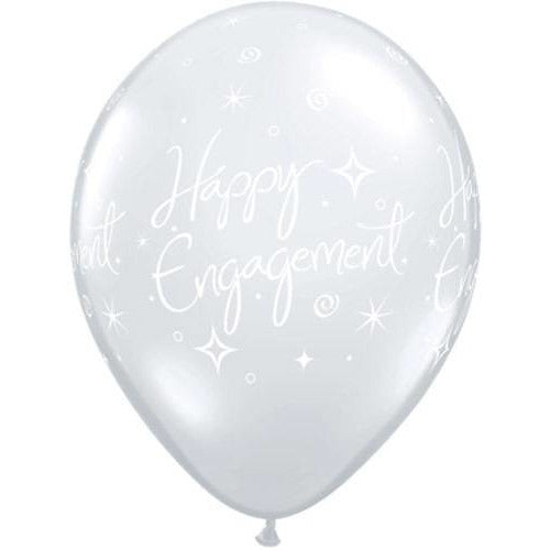 Diamond Clear Engagement Elegant Latex Balloons x25