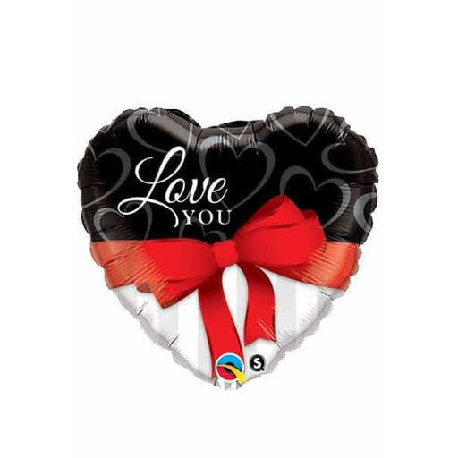 Love You Red Ribbon Supershape Balloon