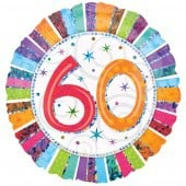 Radiant 60th Birthday Foil Balloon