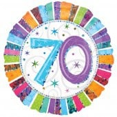 Radiant 70th Birthday Foil Balloon