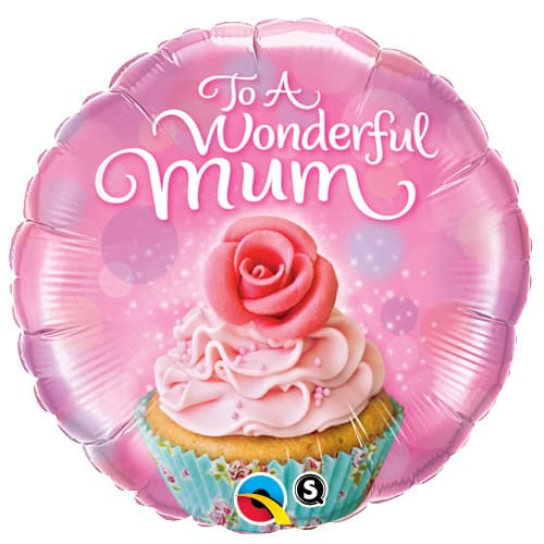 To A Wonderful Mum Cupcake Foil Balloons