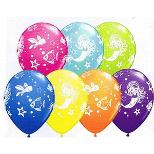 Merry Mermaid And Friends Latex Balloons x25 - mypartymonsterstore
