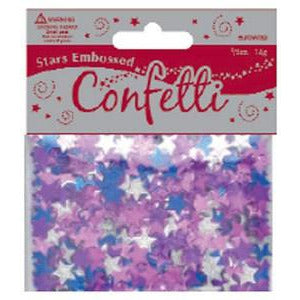 Embossed Assorted Star Confetti - mypartymonsterstore