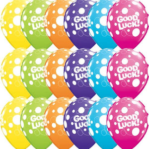 Good Luck Dots Assorted Latex Balloons x25 - mypartymonsterstore