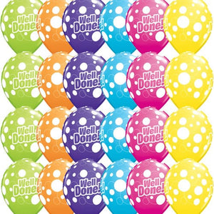 Well Done Dots Assorted Latex Balloons x25
