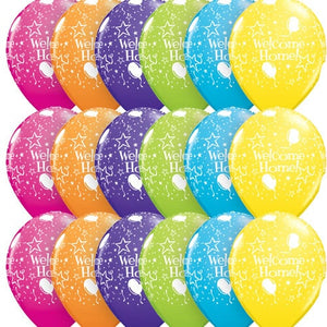 Welcome Home Stars A Round Assorted Latex Balloons x25 - mypartymonsterstore