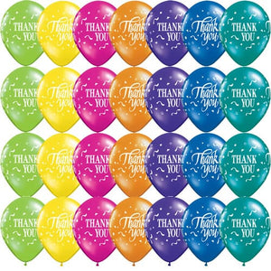 Thank You Assorted Latex Balloons x25 - mypartymonsterstore