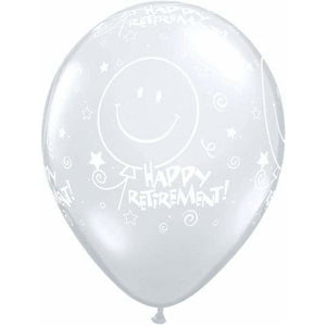 Retirement Smile Face A Round Latex Balloons x25 - mypartymonsterstore
