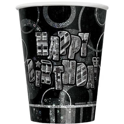 Happy Birthday Glitz Cups x8