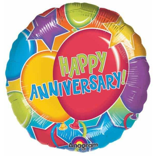 Happy Anniversary Glitter Foil Balloon