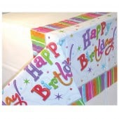 Radiant Birthday Plastic Tablecover x1