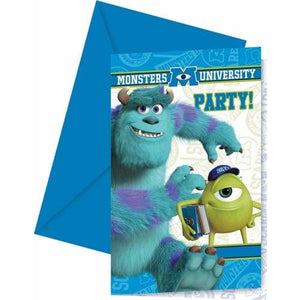 Monsters University Invites And Envelopes x6