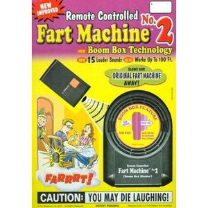 Radio Controlled Fart Machine No 2 - mypartymonsterstore