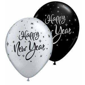 New Year Sparkle Latex Balloons 25pk