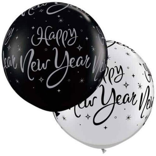 New Year Spakle Giant Latex Balloons 2pk