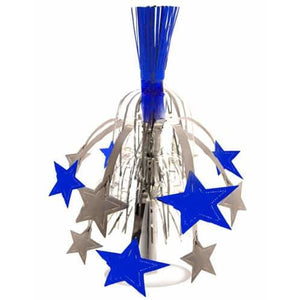 Silver and Blue Star Decoration - mypartymonsterstore