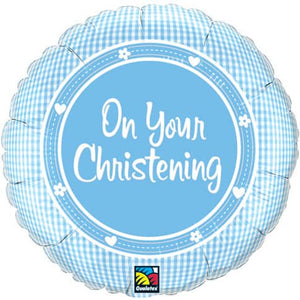 On Your Christening Boy Foil Balloon - mypartymonsterstore