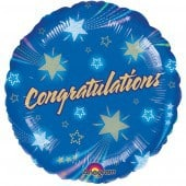 Shooting Star Congratulations Foil Balloon
