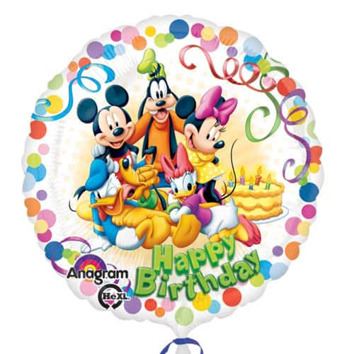 Happy Birthday Mickey Mouse And Friends party Foil Balloon