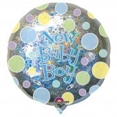 New Baby Boy Dots Jumbo Balloon