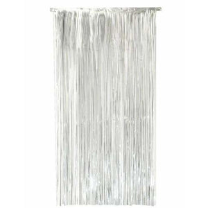 Silver Shimmer Foil Door Curtain - mypartymonsterstore