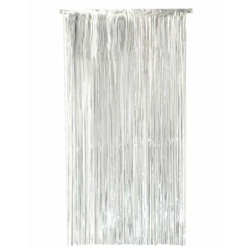 Silver Shimmer Foil Door Curtain