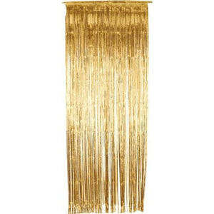 Gold Shimmer Foil Door Curtain - mypartymonsterstore