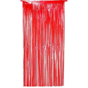 Red Shimmer Foil Door Curtain