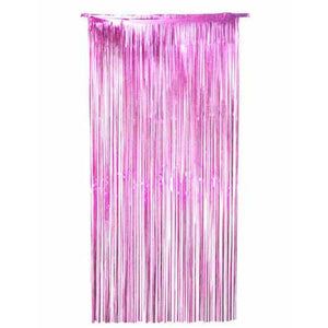 Pink Shimmer Foil Door Curtain