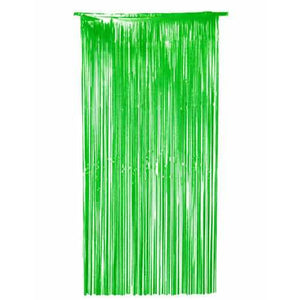Green Shimmer Foil Door Curtain
