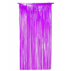 Purple Shimmer Foil Door Curtain