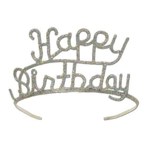 Happy Birthday Glitter Tiara - mypartymonsterstore
