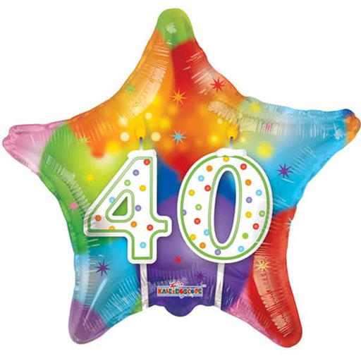 Happy 40th Birthday Candles Foil Balloon