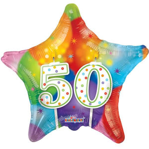 Happy 50th Bithday Candles Foil Balloon