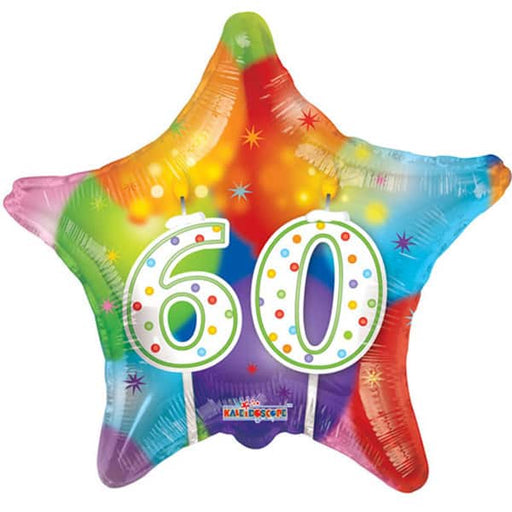 Happy 60th Bithday Candles Foil Balloon