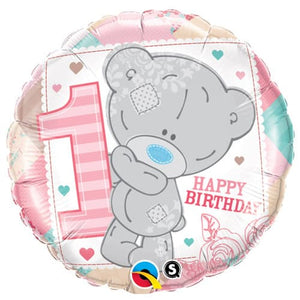 Me To You Tiny Tatty 1st Birthday Girl Foil Balloon - mypartymonsterstore