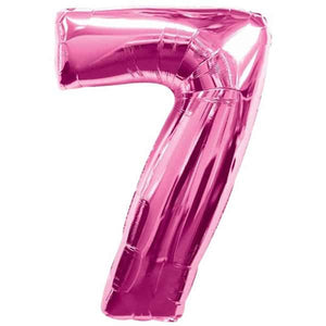 Pink Number 7 Foil Balloon