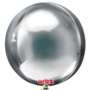 Silver Orbz Balloons x3 - mypartymonsterstore