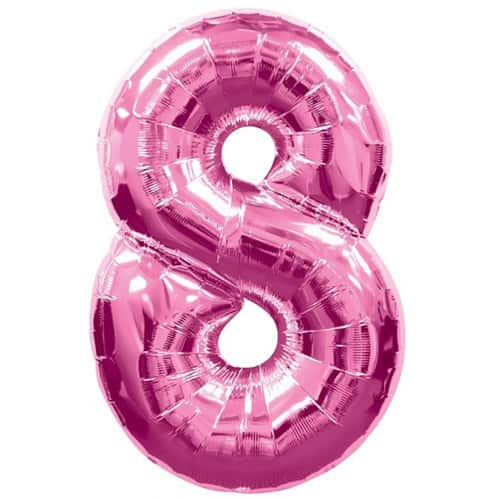 Pink Number 8 Foil Balloon