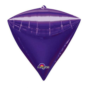 Purple Diamondz Balloons x3 - mypartymonsterstore