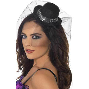 Mini Top Hat With Sequins
